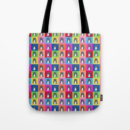 Pussy Cat illustration pattern Tote Bag