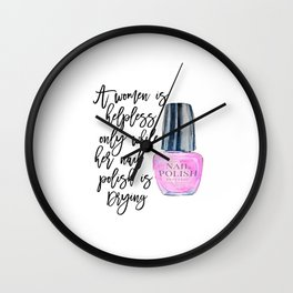 NAIL POLISH, Girls Room Decor,Makeup Poster,Girly Poster,Gift for Her,Quote Posters,Printable Wall Wall Clock