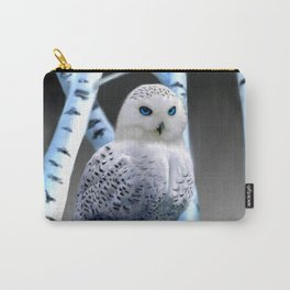 Blue-eyed Snow Owl Carry-All Pouch