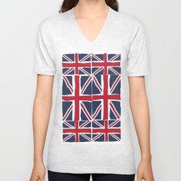 Union Jack flag pattern Unisex V-Neck