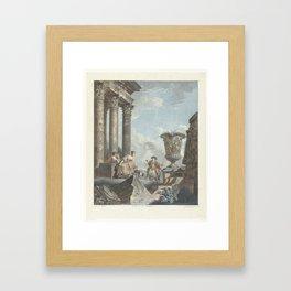 Antieke ruïnes, Jean François Janinet, Giovanni Paolo Pannini, 1762 - 1798 Framed Art Print