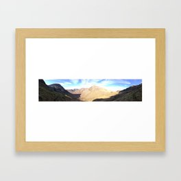 scafell Pike, Lake District. Panoramic Framed Art Print