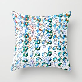 Glass stain mosaic 10 - bubbles, by Brian Vegas Throw Pillow