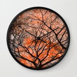 My Golden Autumn Wall Clock