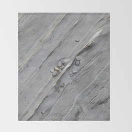 Abstract beach stone Throw Blanket