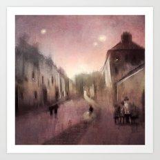 Into Town Art Print
