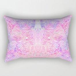 Pink Purple Paisley Love Rectangular Pillow
