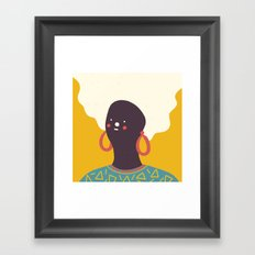Colorful Girl Framed Art Print