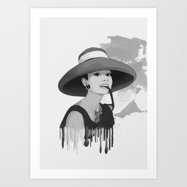 Audrey Herpburn Art Print