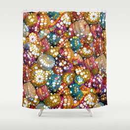 Happy Boho Bling Colors Shower Curtain