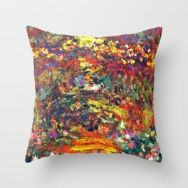 "Claude Monet ""Path under the Rose Trellises, Giverny"", 1922 Throw Pillow"