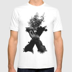 X Animals II White SMALL Mens Fitted Tee