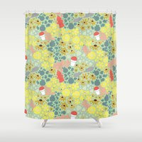 baltimore Shower Curtains featuring Baltimore Summer by Puddles of Ink