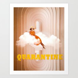 Quarantine woman Art Print
