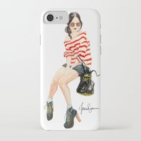 stripe iPhone & iPod Cases featuring Stripe by Jessica Brennan