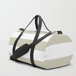 Beach Sand and White Stripes Duffle Bag