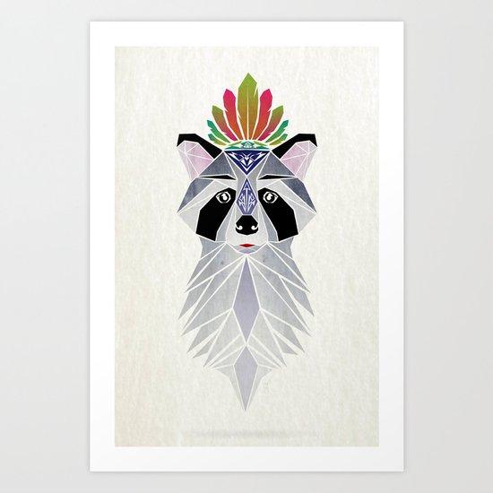 raccoon spirit Art Print