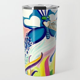 """SF Butterfly"" by Adam France Travel Mug"