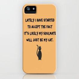 Cat Soulmate iPhone Case