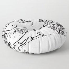 Releasing Butterflies Floor Pillow