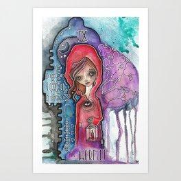 The Hermit - Tarot Inspired Watercolor Art Print