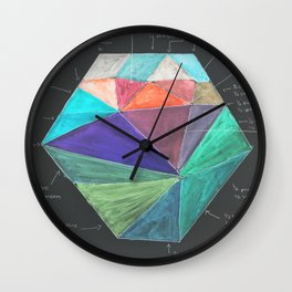 Inverted Color Study Wall Clock