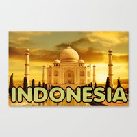 indonesia Canvas Prints featuring Indonesia by Tyler Hines