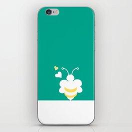Honey Bee Green Yellow Heart Love iPhone Skin