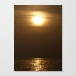 Sunset in tarifa Canvas Print