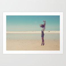 Win the wind Art Print