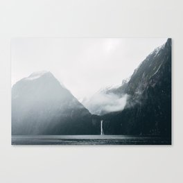 Milford Sound on a rainy day Canvas Print