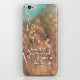 Strains of Silence by Bethany Kaczmarek   Quote 2 iPhone Skin