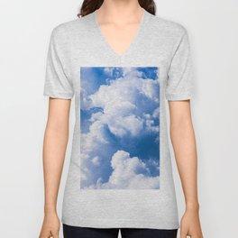 Stormy Clouds Pattern Unisex V-Neck