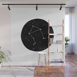 Libra minimal constellation star sign zodiac art print Wall Mural