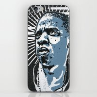 jay z iPhone & iPod Skins featuring Jay-Z by Hans Poppe
