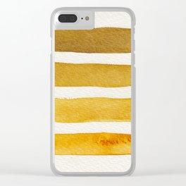 Autumn Stripe Clear iPhone Case