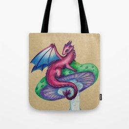 Mushroom Fairy Dragon Tote Bag