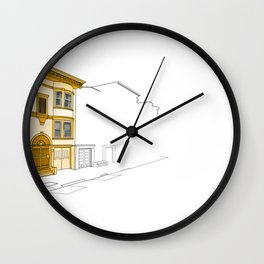 Yellow San Francisco Haus Wall Clock