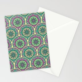 Mosaico Purple Teal Stationery Cards