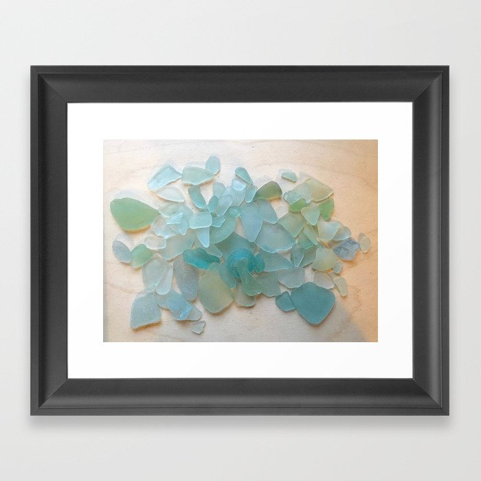 Ocean Hue Sea Glass Gerahmter Kunstdruck