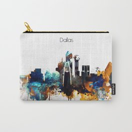Dallas Texas watercolor print skyline Carry-All Pouch