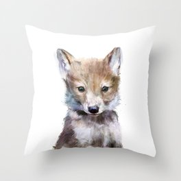 Little Wolf Throw Pillow
