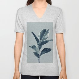 Ficus Elastica Finesse #1 #tropical #foliage #decor #art #society6 Unisex V-Neck