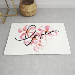 """Plumeria Love - A Romantic way to say, """"I Love You"""" Rug"""