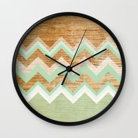 wood Wall Clocks featuring Wood by naidl