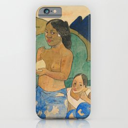 Two Tahitian Women in a Landscape (ca. 1892) by iPhone Case