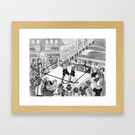 Fight Night Framed Art Print