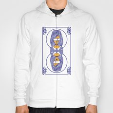 custom playing cards back (blue) Hoody