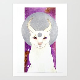 White Caracal Art Print