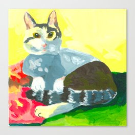 The Colourful Dream of a Cat Canvas Print